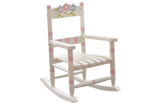 Bouquet Thematic Kids Wooden Rocking Chair