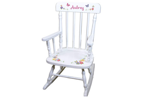Bright Butterfly Rocking Chair