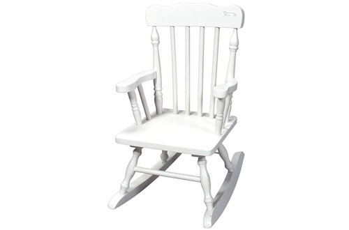Gift Mark White Colonial Rocking Chair For Children