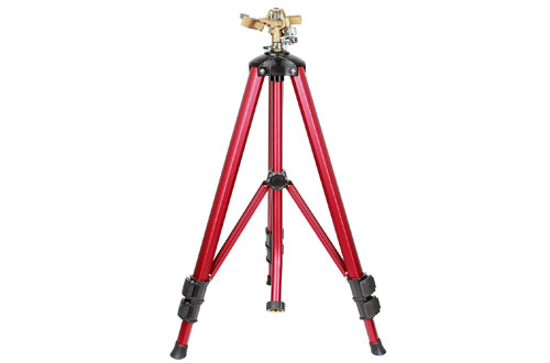 SOMMERLAND Brass Impact Tripod Sprinkler for Garden and Lawn