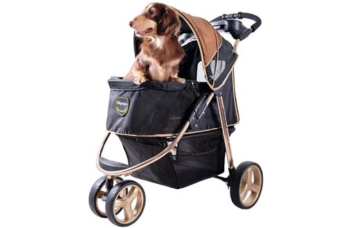 ibiyaya 3 Wheel Dog Stroller for Large and Medium Dogs
