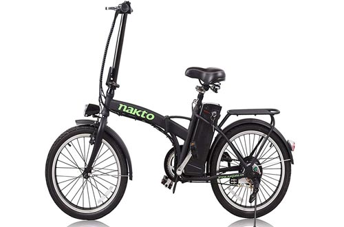NAKTO Electric Bicycle Sporting Shimano 6- Speed Gear EBike