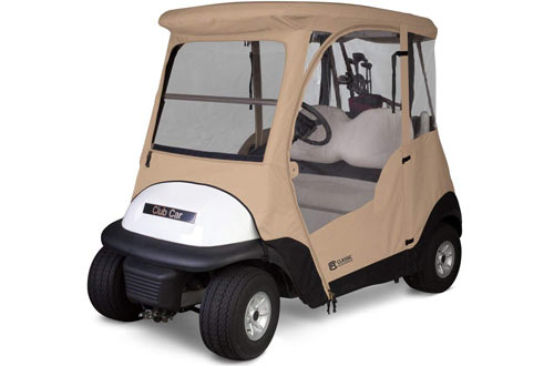 Classic Accessories Fairway Deluxe 4-Sided 2-Person Golf Cart Enclosure For Club Car