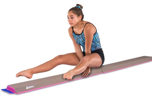 JuperbSky Gymnastics Half Folding and Joinable Suede Floor Foam Practice Balance Beam for kids