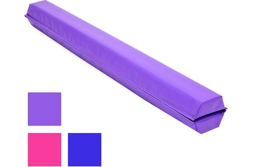 Gymnastics Sectional Foldable Foam Floor Balance Beam for Skill Performance Training