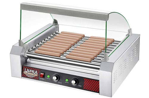Hot Dog 11 Roller Grilling Machine with Cover
