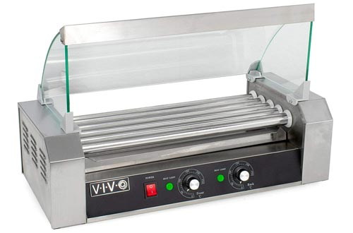 VIVO Electric Hot Dog Roller & Warmer Machine with Cover