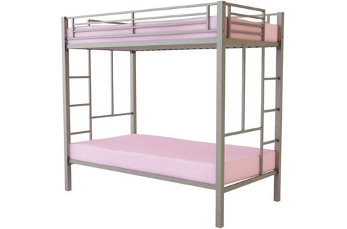 BLOSSOMZ  Twin over Twin Metal Bunk Bed