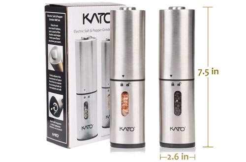 Automatic Salt and Pepper Grinders Set