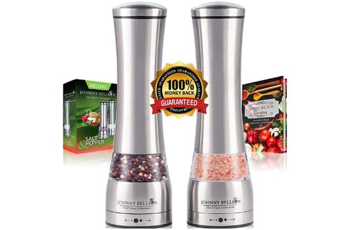 Premium Stainless Steel Salt and Pepper Grinder Set