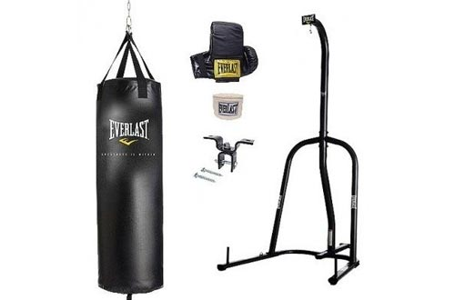Everlast Single Station Heavy Bag Stand with Heavy Bag Kit