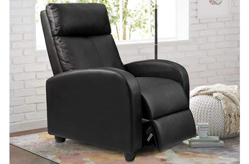 Homall Single Modern Leather Recliner Chair Sofa