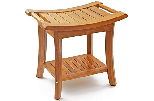 Deluxe Teak Wood Shower Bench