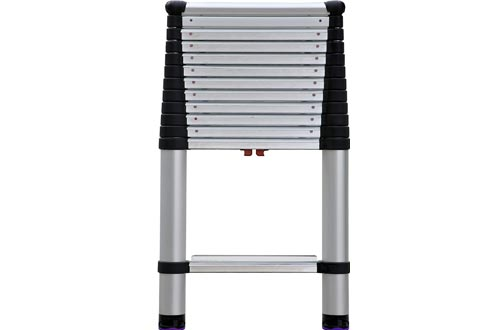 Telesteps 1600EP OSHA Compliant 16 ft Reach Professional Wide Step Telescoping Extension Ladder