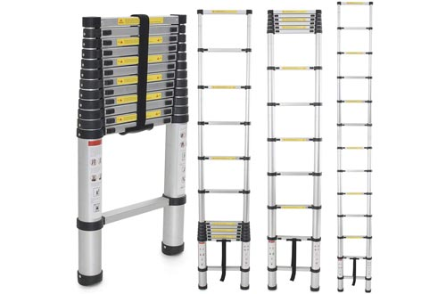 Yesker 12.5ft Telescoping Ladder Aluminum Telescopic Extension Multi Purpose Ladders