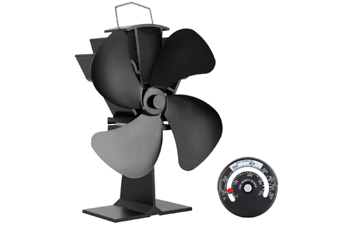 KINDEN Fireplace Fans 4-Blade - Heat Powered Stove Fan for Wood