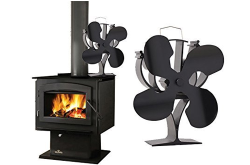 VODA New designed 4 Blades Heat Powered Stove Fan