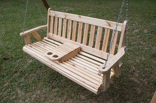 ROLLED seating Amish Heavy Duty 800 Lb 5ft. Porch Swing