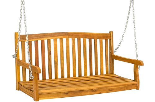 Wooden Porch Furniture Swing Bench for Patio