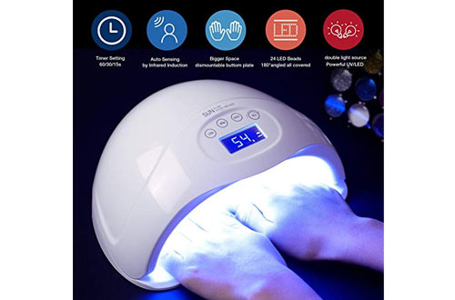 Nail Dryer, 48W LED UV Nail Lamp for Gel Nail Polish