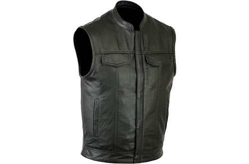 Ruja Sports SOA Style Genuine Leather Motorbike Vest
