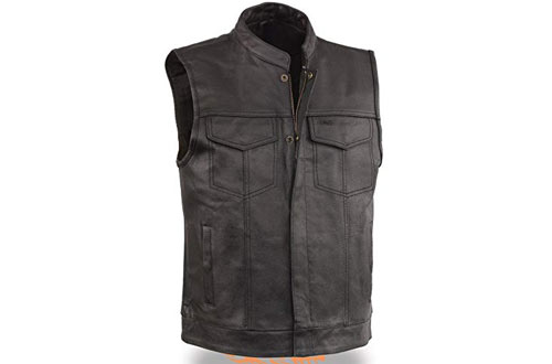EVENT LEATHER Men's Leather Motorcycle Vest