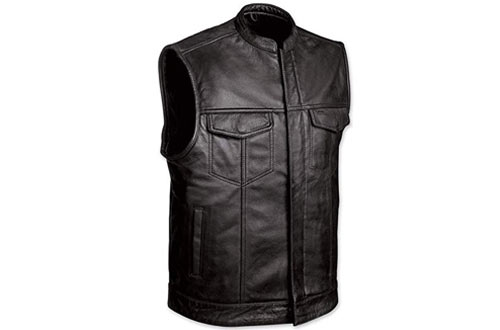 Monaco Traders Men's Leather Motorcycle Vest