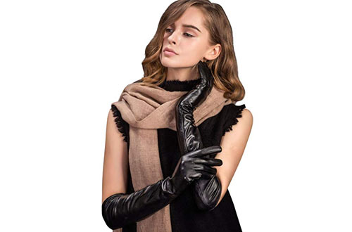 YISEVEN Women's Touchscreen Lambskin Leather Opera Gloves