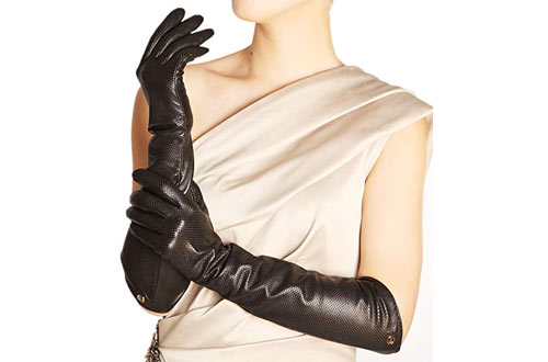 ELMA Lady's Eblow Long Nappa Leather Driving Gloves