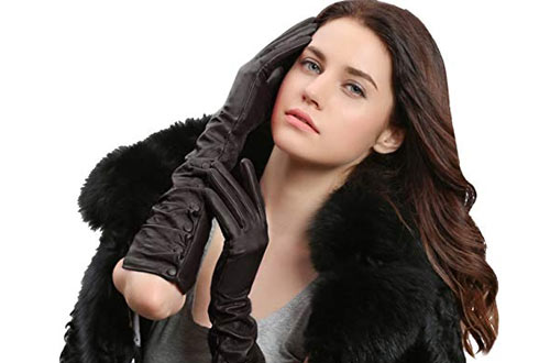 GSG Lady Elbow Gloves Leather Dress Gloves