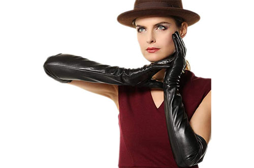 Women's Supple Nappa Leather Touchscreen Texting Opera Dressing Gloves