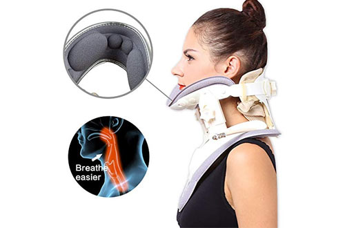 Alphay Neck Stretcher Cervical Collar Traction Device for Home