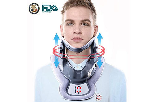 Hangsun Cervical Neck Traction Device and Inflatable Adjustable Neck Brace Collar