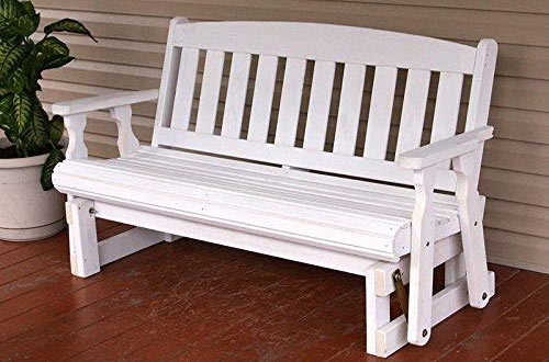 Cafe Amish Heavy Duty 800 Lb Mission Pressure Treated Porch Glider