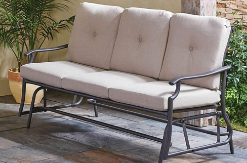 Hammacher Schlemmer The All Weather Sofa Glider