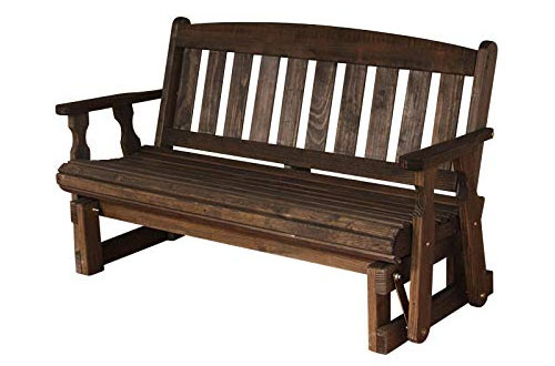 CAF Amish Heavy Duty 800 Lb Mission Pressure Treated Porch Glider