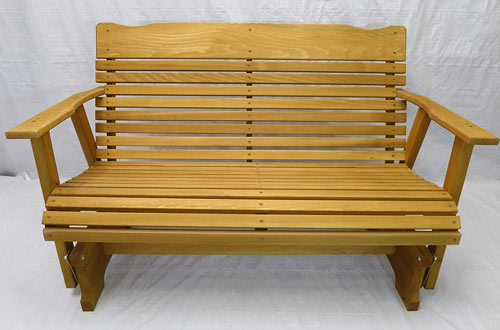 Kilmer Creek 4' Cedar Porch Glider W/stained Finish