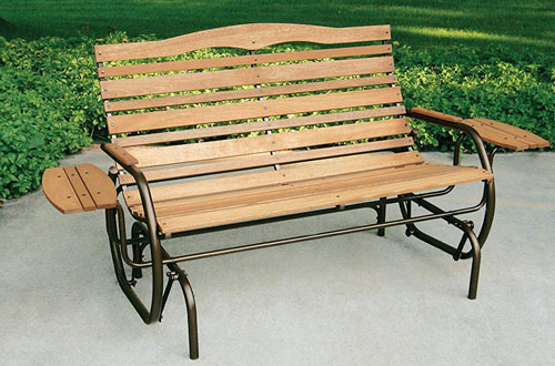 Jack Post CG-12Z Country Garden Double Glider with Trays