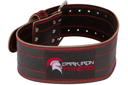 Dark Iron Fitness Leather Weight Lifting Belt for Men & Women