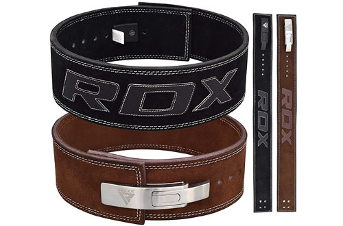 RDX  Lever Leather Powerlifting Belt for Crossfit Workout Gym