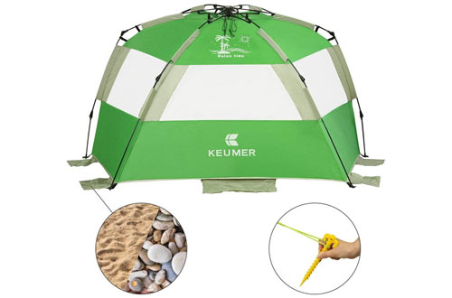 G4Free Large Family Pop Up Beach Tent Shelter for Kids
