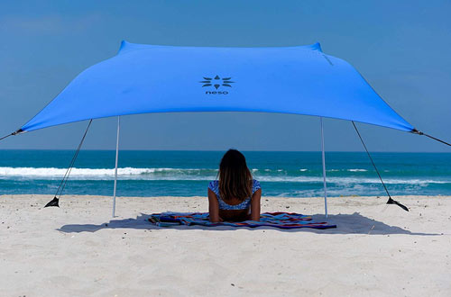 Neso Tents Beach Tent with Sand Anchor, Portable Canopy Sunshade