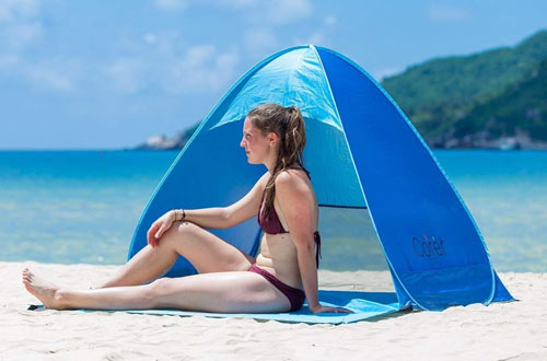 iCorer Automatic Pop Up Instant Portable Outdoors Quick Cabana Beach Tent