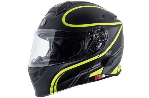 TORC Unisex-Adult Full-face Style T28B Bluetooth Integrated Motorcycle Helmet