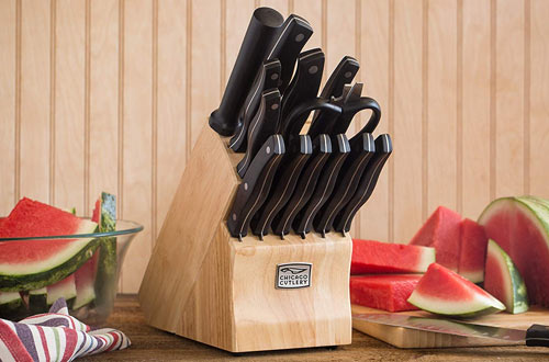 Chicago Cutlery Metropolitan High-Carbon Blade Block Knife Set