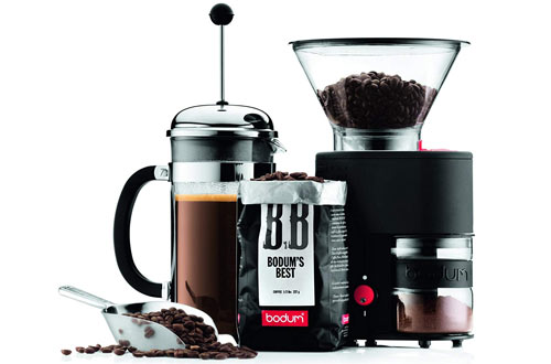 Electronic Coffee Grinder with Continuously Adjustable Grind