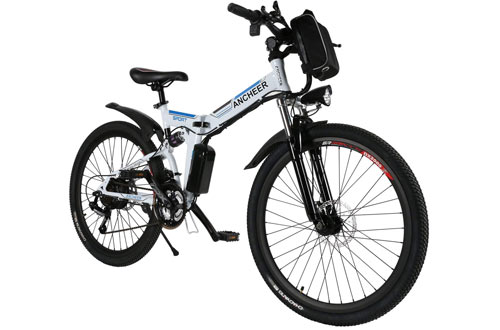 ANCHEER Electric Bike with 36V 8AH Lithium-Ion Battery Lightweigh E-Bike