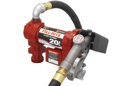 Fill-Rite FR4210G 12V 20 GPM Fuel Transfer Pump with Manual Nozzle