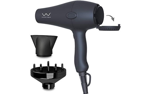 Ions Hair Dryer Lightweight Hair Blow Dryer with Diffuser