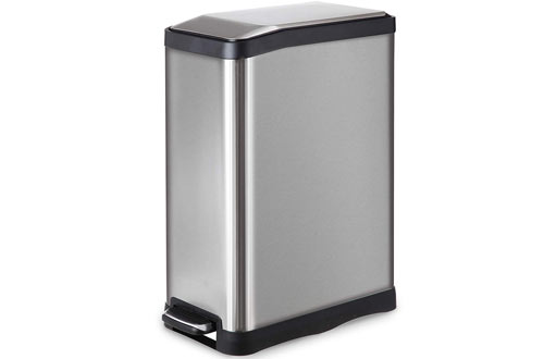 Home Zone Stainless Steel Kitchen Trash Can